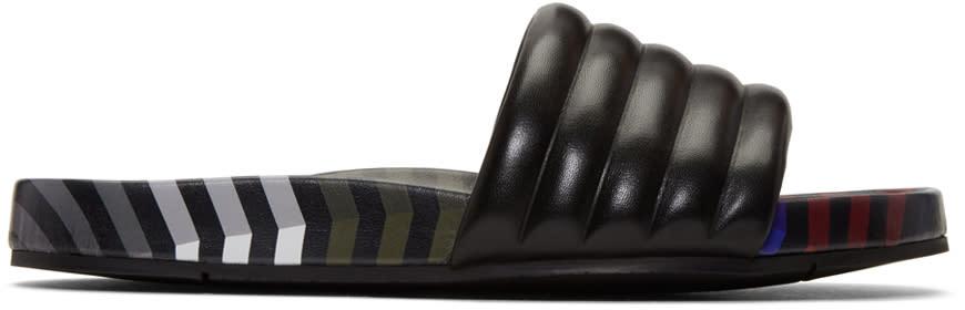 Fendi Black Zig Zag Sandals