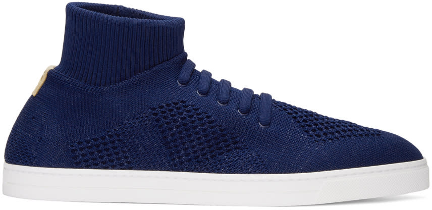 Fendi Blue Sock Slip-on Sneakers