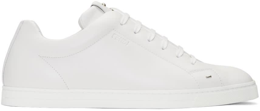 Fendi White fendi Faces Sneakers