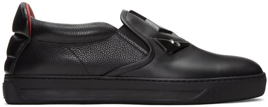 Fendi Black bag Bug Slip-on Sneakers