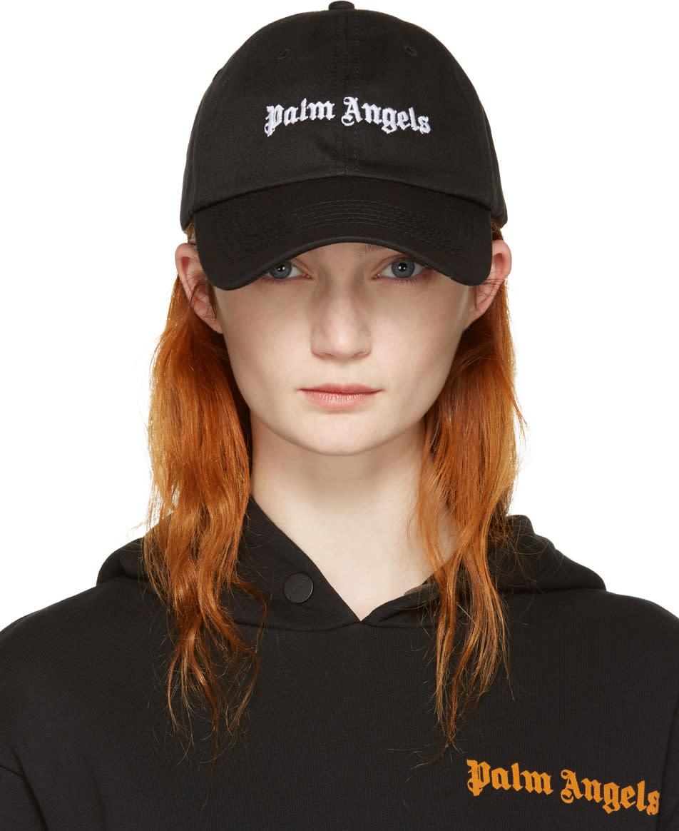 Palm Angels Black Vintage Logo Cap