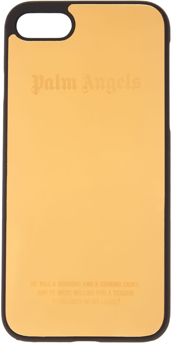 Palm Angels Gold Logo Iphone 7 Case
