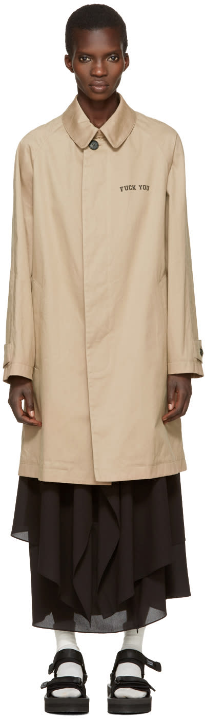 Palm Angels Beige if You Are Recovering Coat