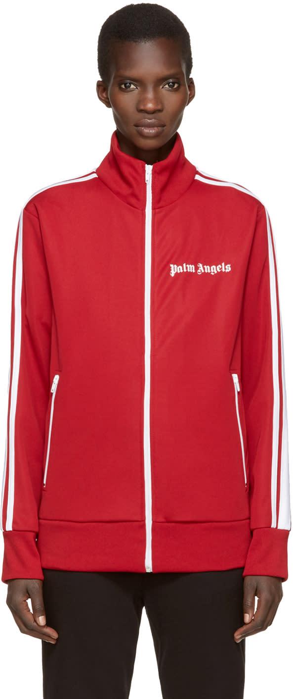 Palm Angels Red Logo Track Jacket