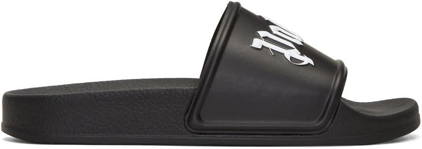 Palm Angels Black Logo Sandals