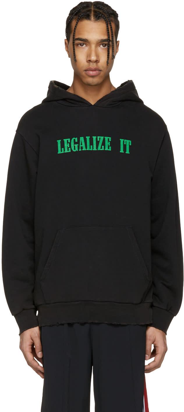 Palm Angels ブラック Legalize It フーディ