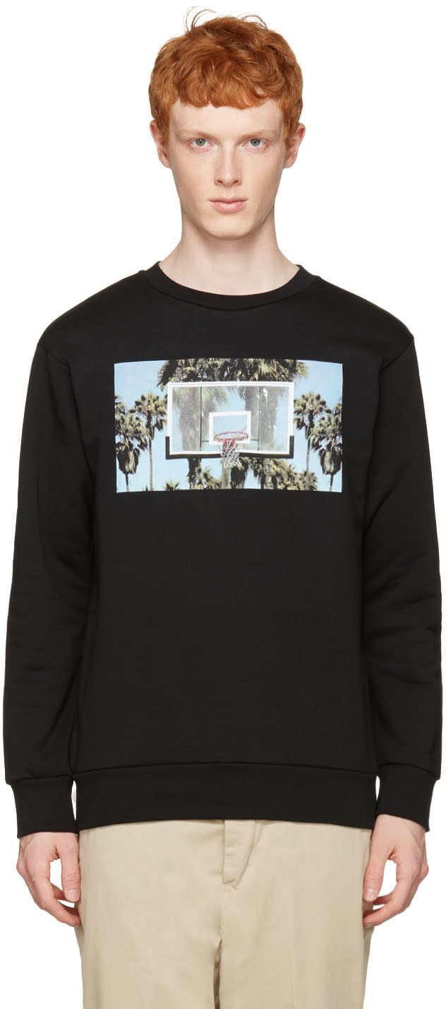 Palm Angels Black Buzzer Beater Pullover