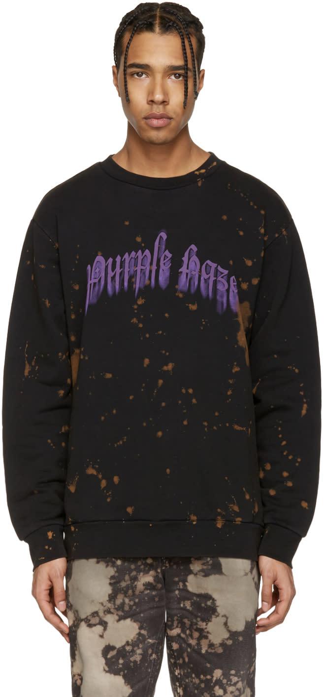 Palm Angels Black Purple Haze Pullover