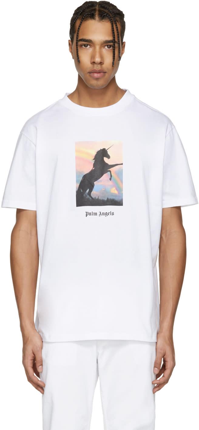 Palm Angels White unicorns Do Exist T-shirt