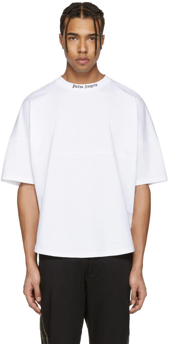 Palm Angels White Logo Over Fit T-shirt