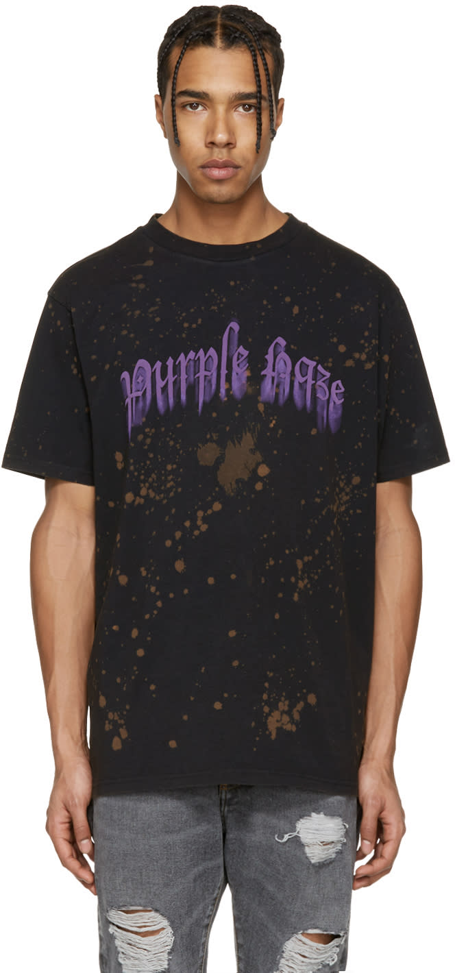 Palm Angels Black Purple Haze T-shirt