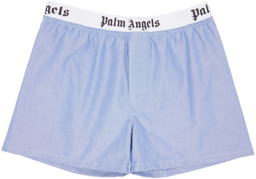 Palm Angels Blue Oxford Boxers