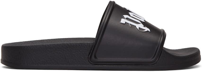 Palm Angels Black Pool Slide Sandals