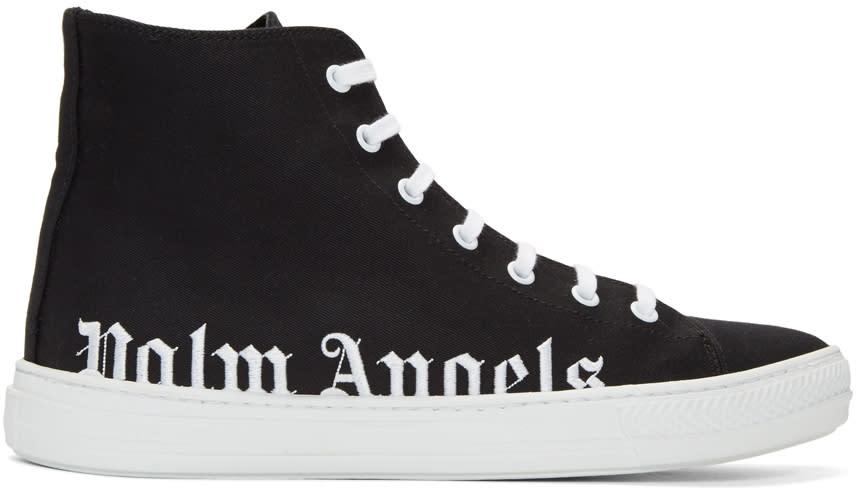 Palm Angels Black Logo High-top Sneakers