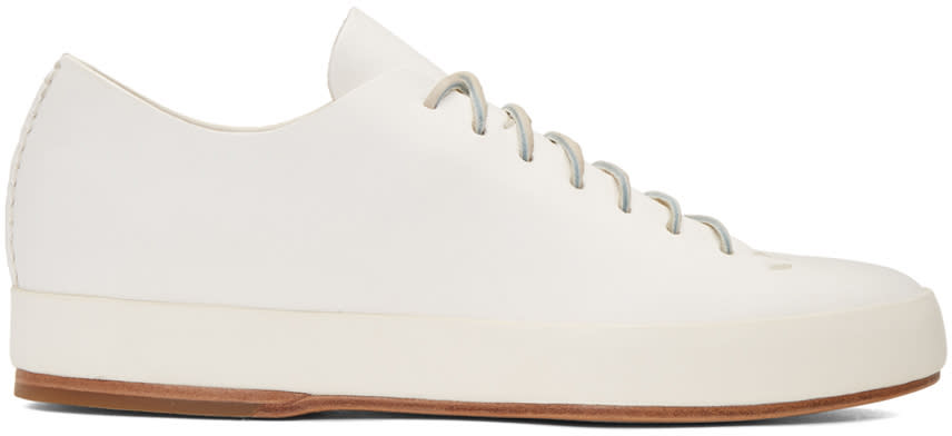 Feit White Hand Sewn Low Sneakers