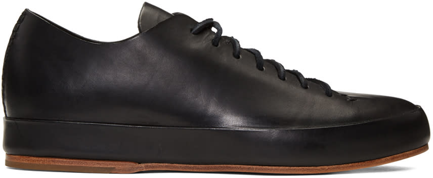 Feit Black Hand Sewn Low Sneakers
