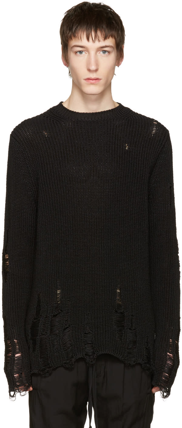 Song For The Mute Black Oversized Beau Sweater