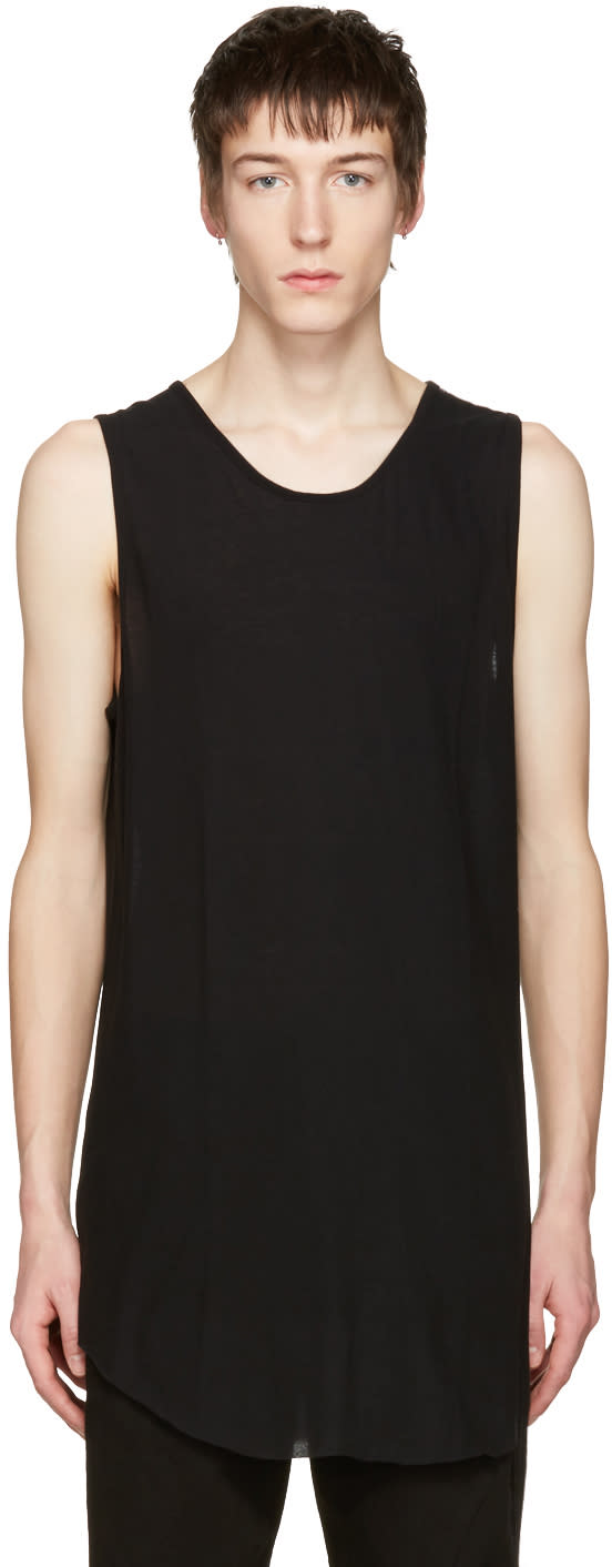 Song For The Mute Black Mesh Jersey Tank Top