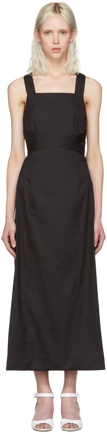 Rosetta Getty Black Apron Wrap Dress