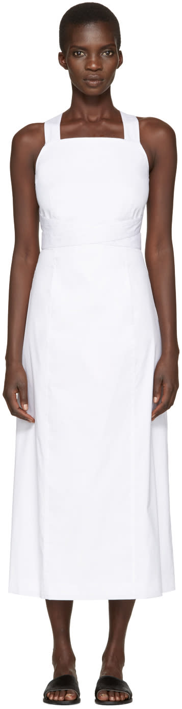 Rosetta Getty White Apron Wrap Dress