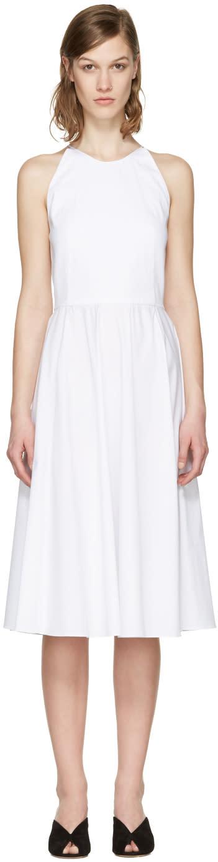 Rosetta Getty White Poplin Halter Dress