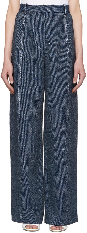 Rosetta Getty Indigo High-rise Trousers