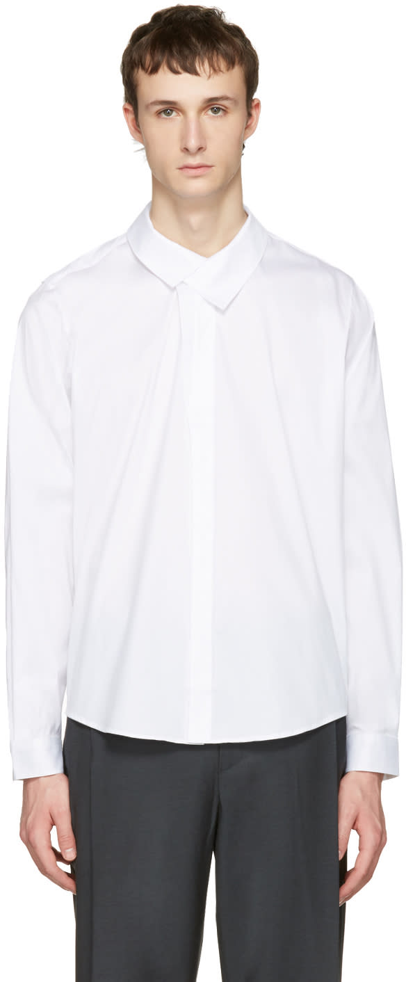 Wooyoungmi White Flap Collar Shirt