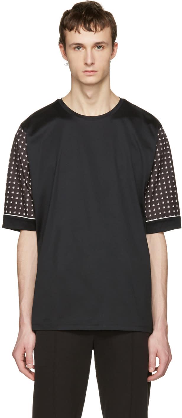 Wooyoungmi Black Print Sleeves T-shirt