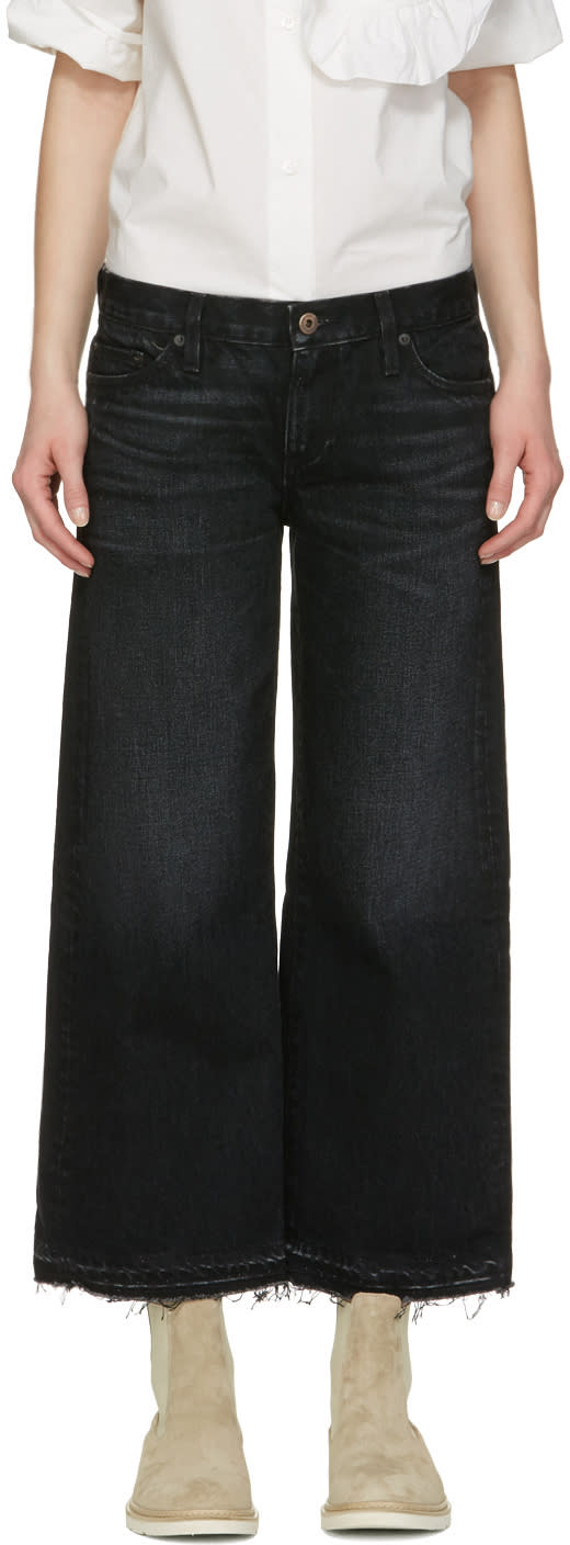Image of Simon Miller Black Bora Cropped Jeans