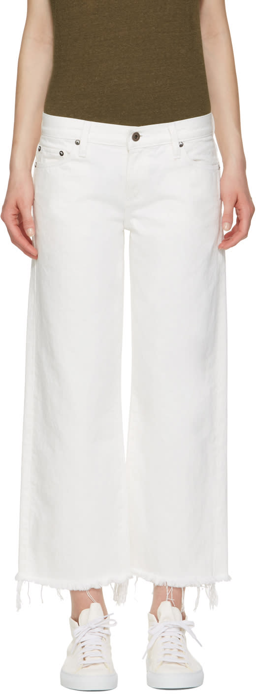 Simon Miller White Lamere Cropped Jeans