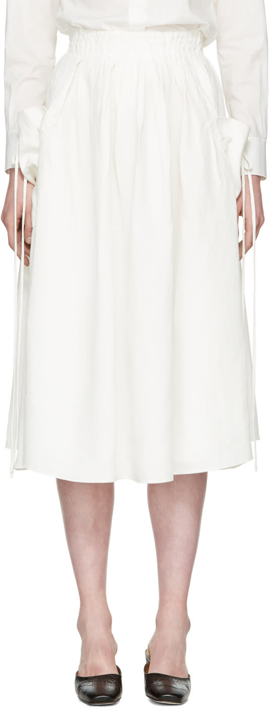 Brock Collection White Stella Skirt