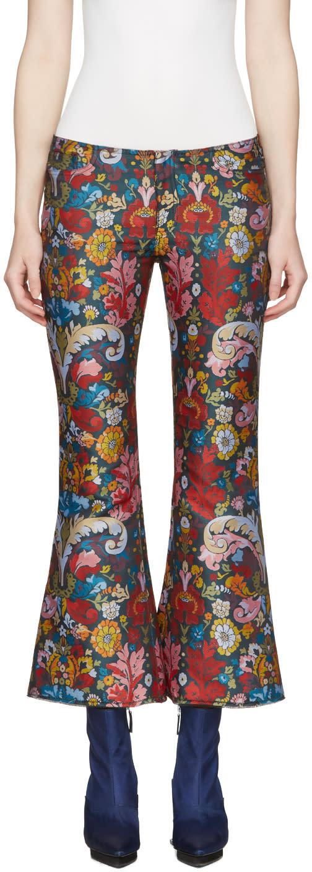 Marques Almeida Multicolor Jacquard Classic Capri Trousers