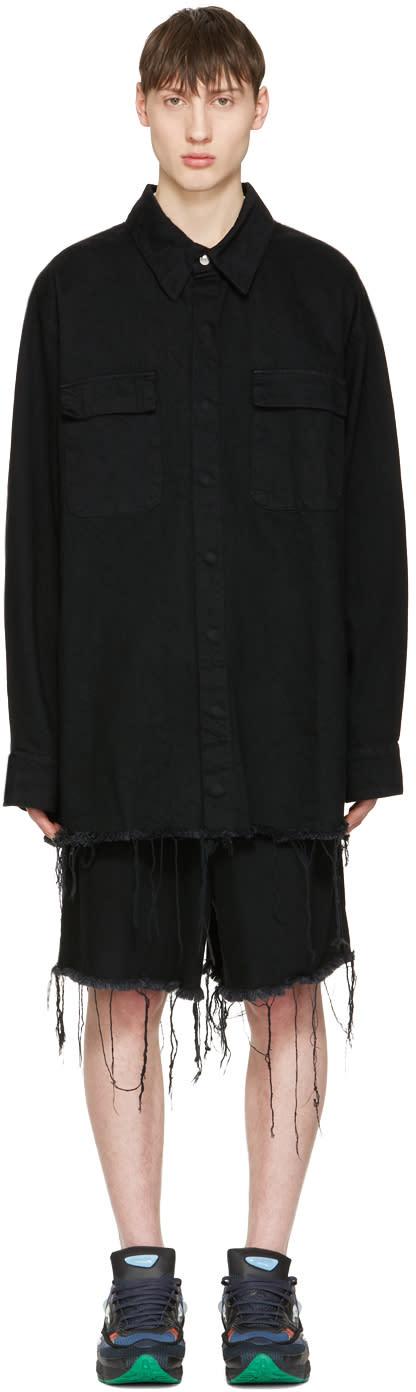 Marques Almeida Black Denim Oversized Shirt