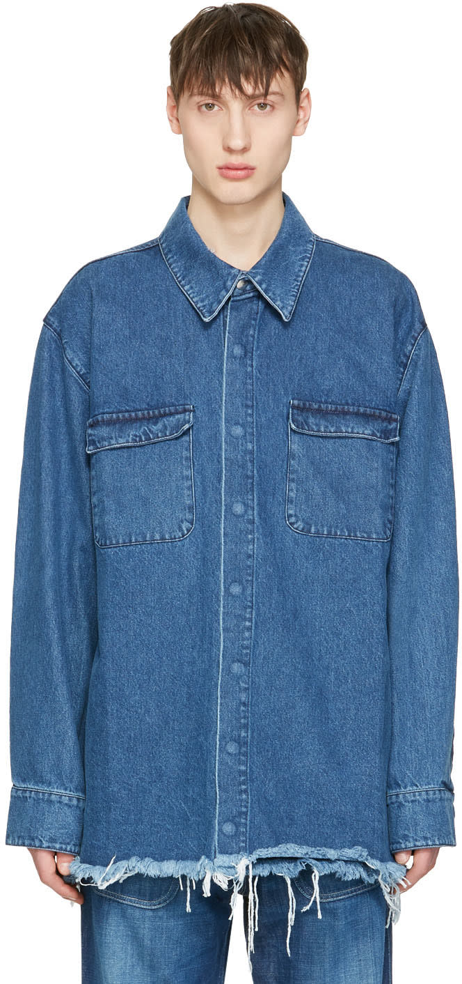 Marques Almeida Blue Denim Oversized Shirt