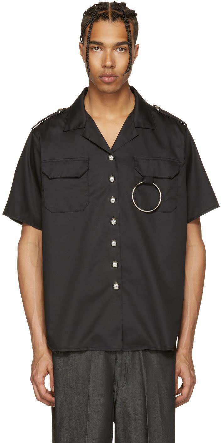 Marques Almeida Black Two Pocket Shirt