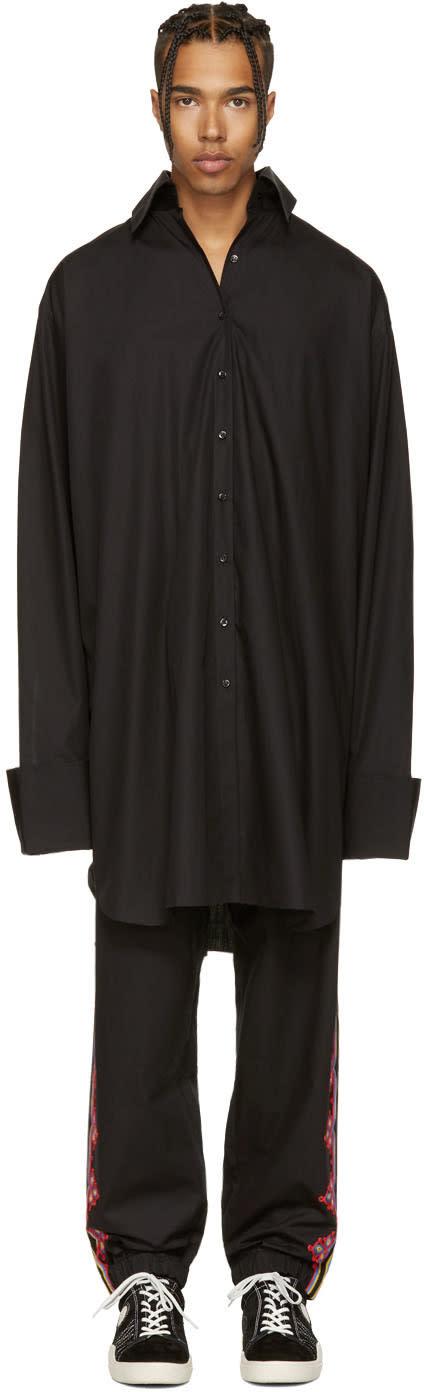 Marques Almeida Black Oversized Xxl Shirt