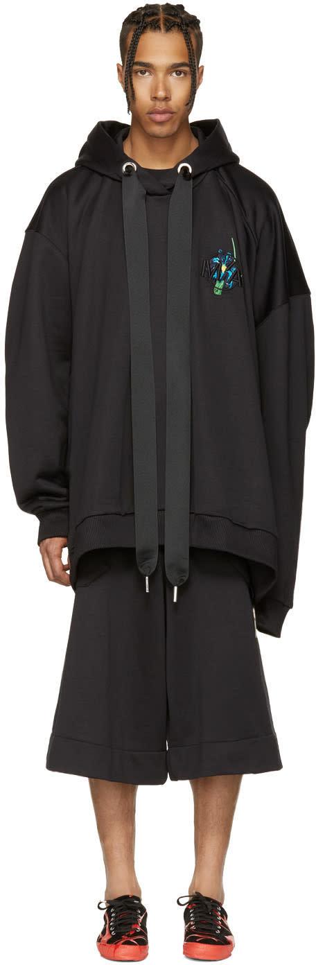 Marques Almeida Black Oversized Hoodie