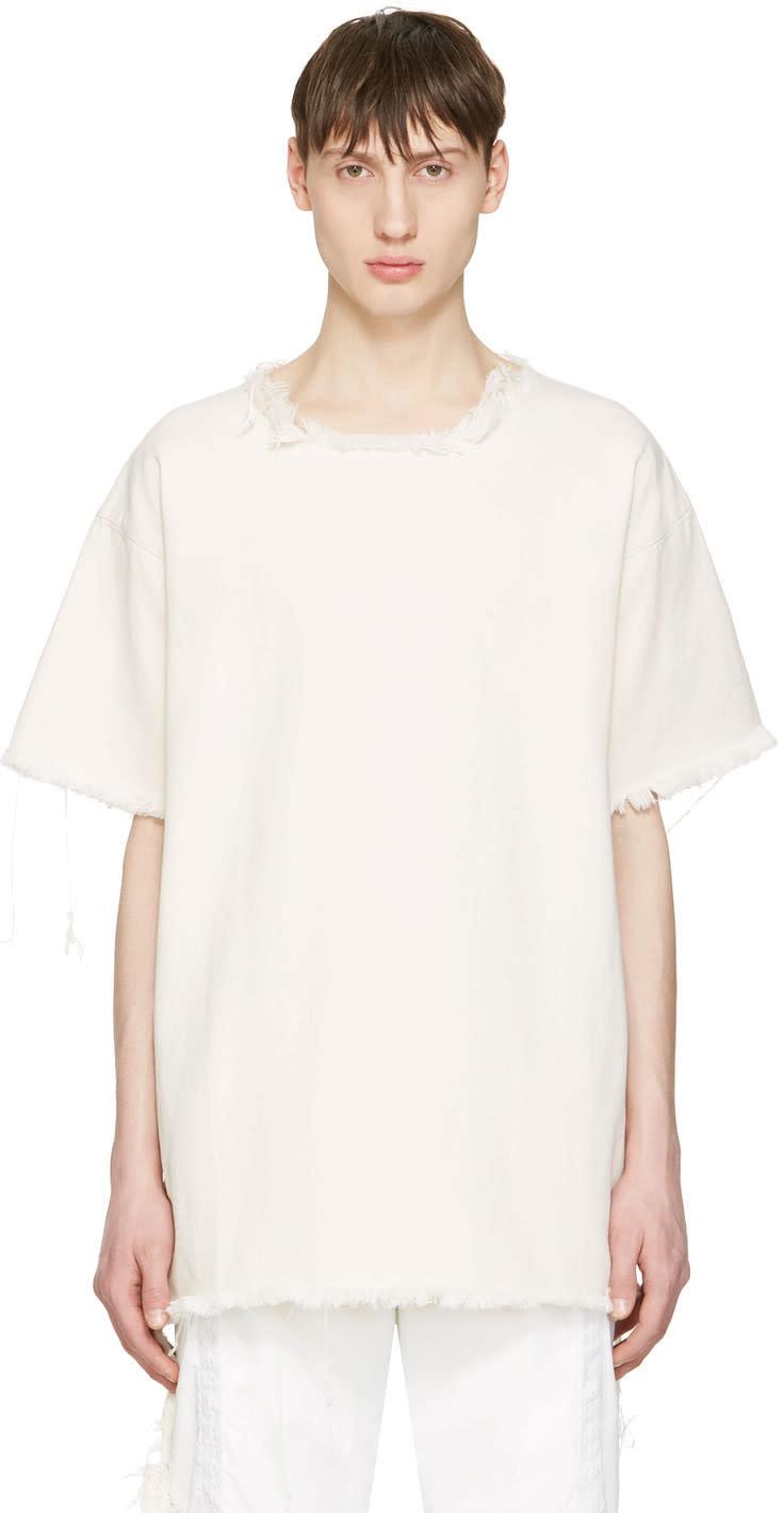 Marques Almeida Off-white Denim T-shirt
