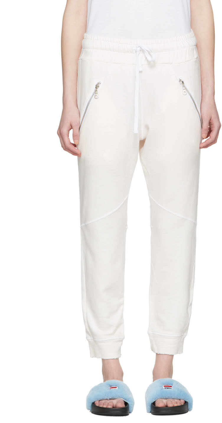 Baja East Pink Zip Pockets Lounge Pants