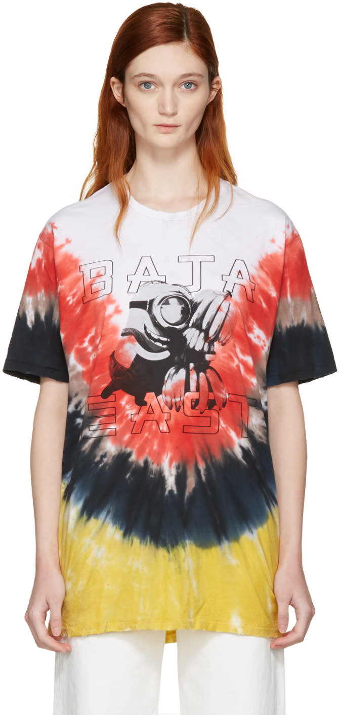 Baja East Multicolor Tie-dye Minions T-shirt