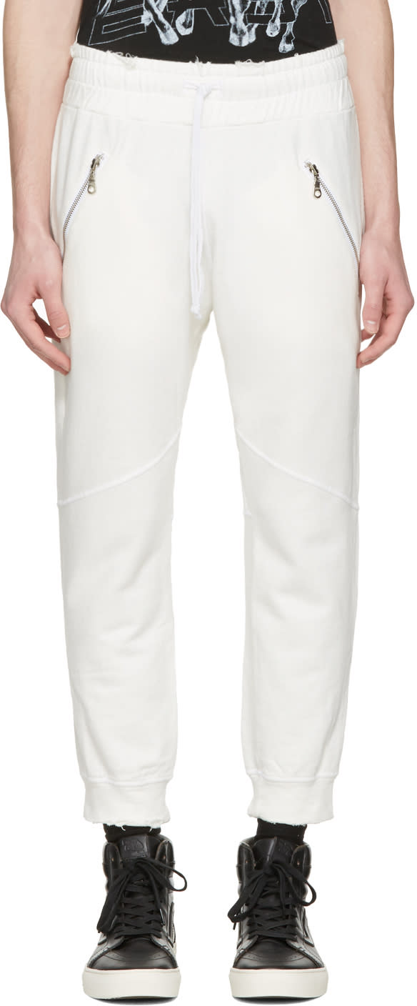 Baja East White Slim Lounge Pants