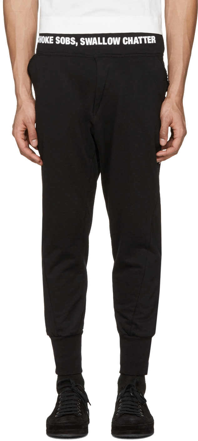 Nilos Black Logo Lounge Pants