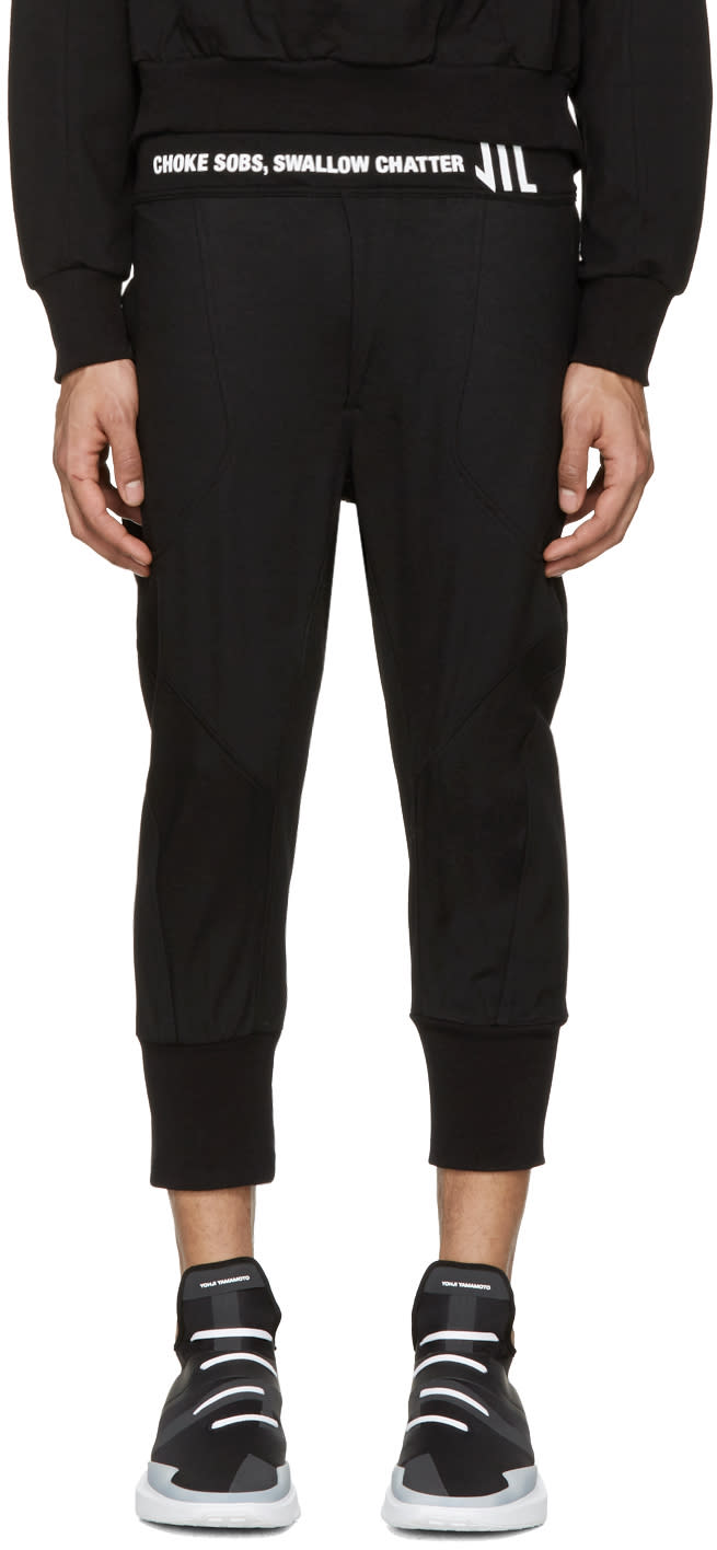 Nilos Black Cropped Logo Lounge Pants