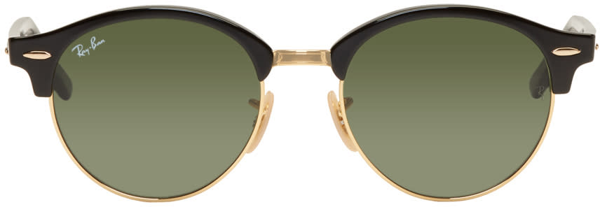 Ray-ban Black and Gold Clubround Sunglasses