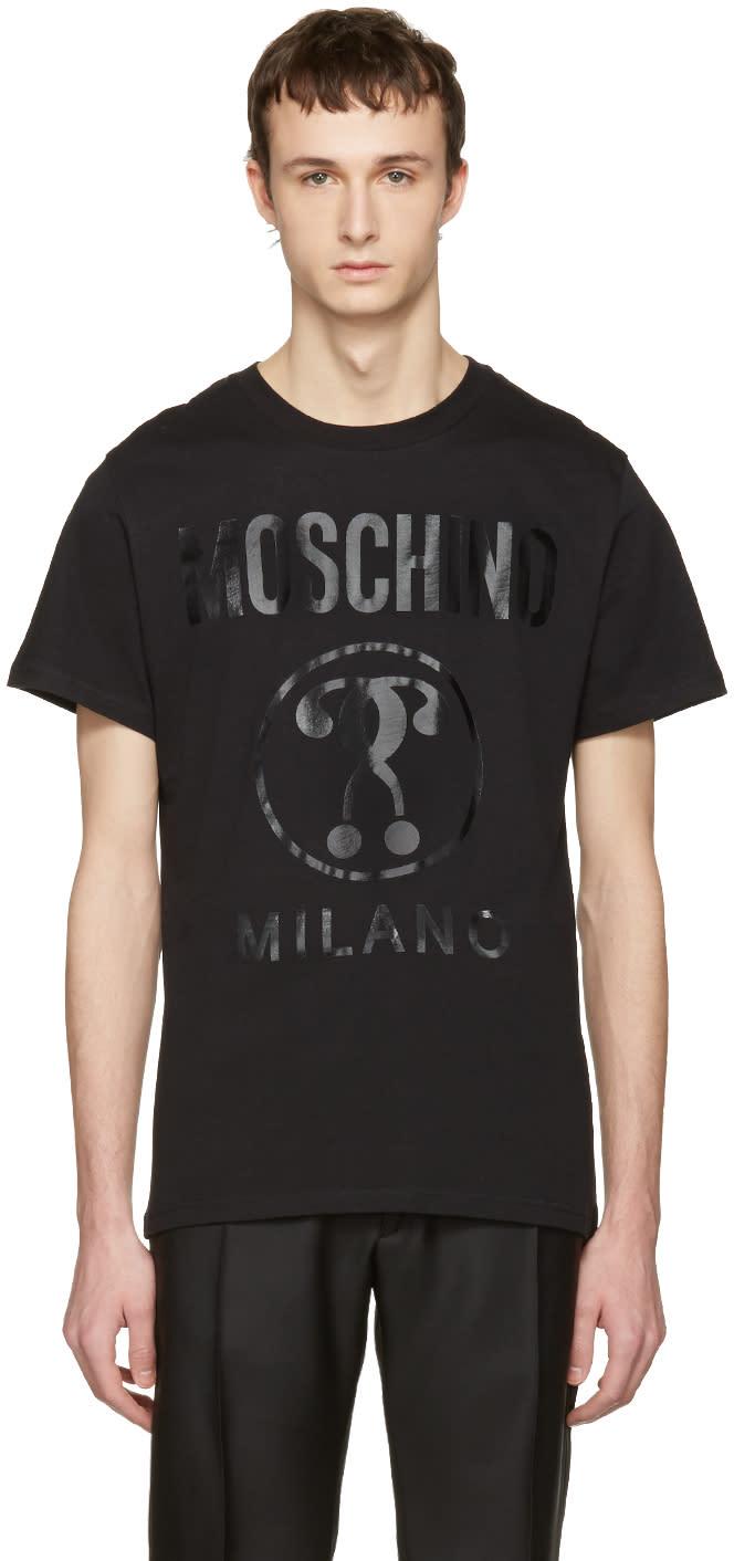 Moschino Black Tonal Logo T-shirt