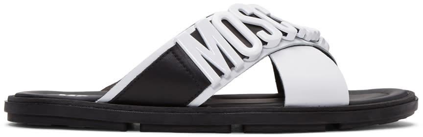 Moschino White Logo Sandals