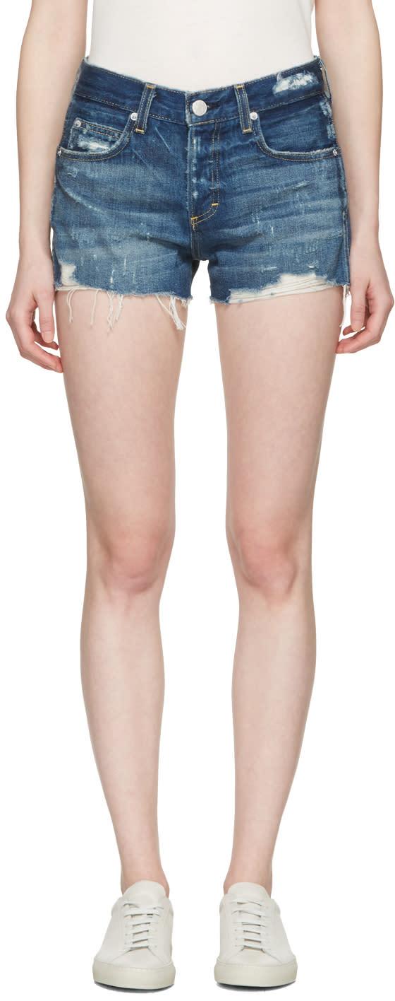 Amo Indigo Denim Tomboy Shorts