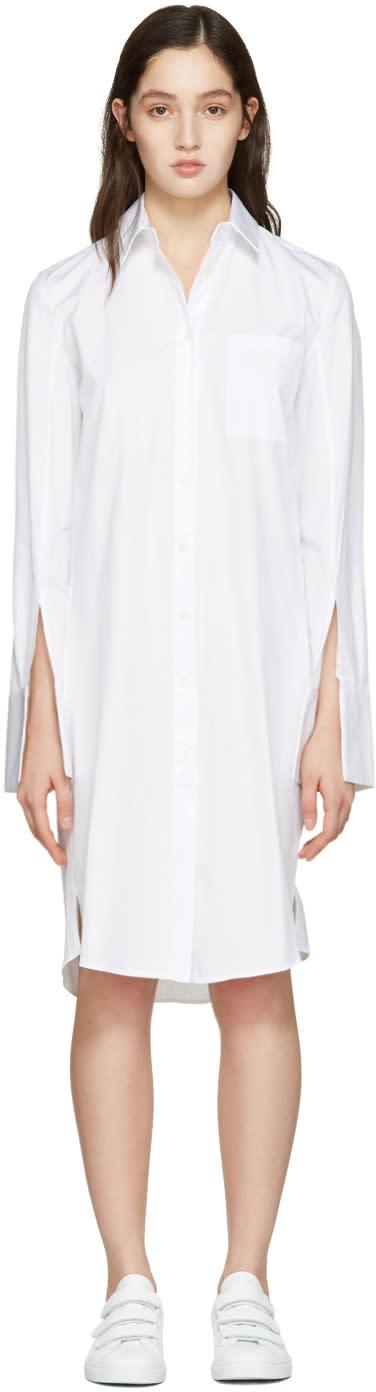 Atea Oceanie White Wide Cuff Dress