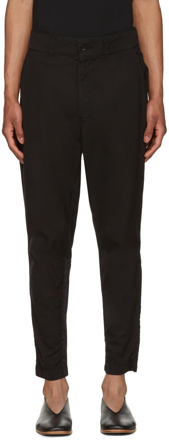 Issey Miyake Men Black Cotton Jodhpur Trousers