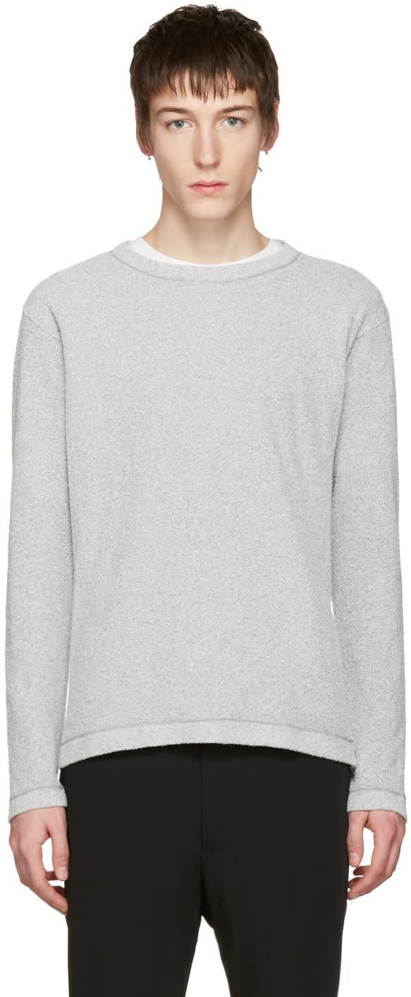 Issey Miyake Men Grey Boucle Pullover